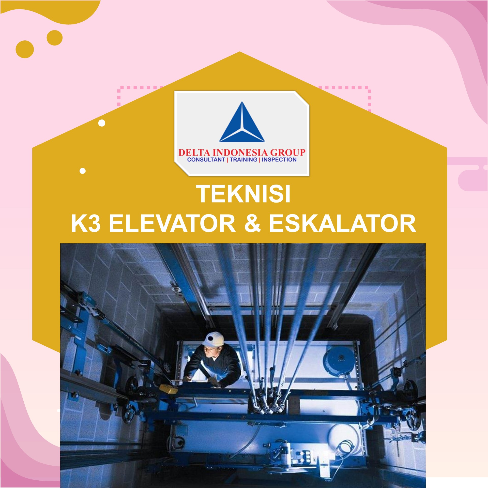 TEKNISI K3 ELEVATOR ESKALATOR